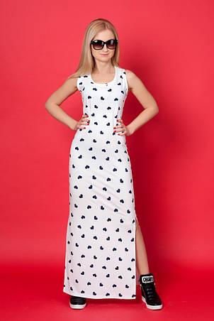 Модное трикотажное платье прямого силуэта с боковыми разрезами., фото 2