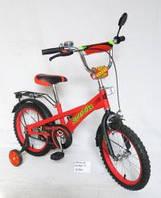 Велосипед 2-х колес 16 141618 1шт со звонком, зеркалом, с вставками в колесах