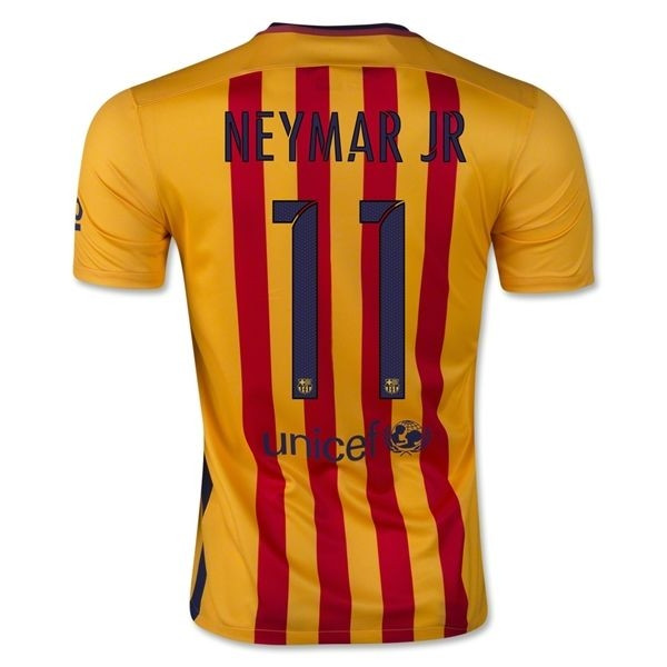 Футбольная форма Барселона Неймар 2015-2016 выездная -