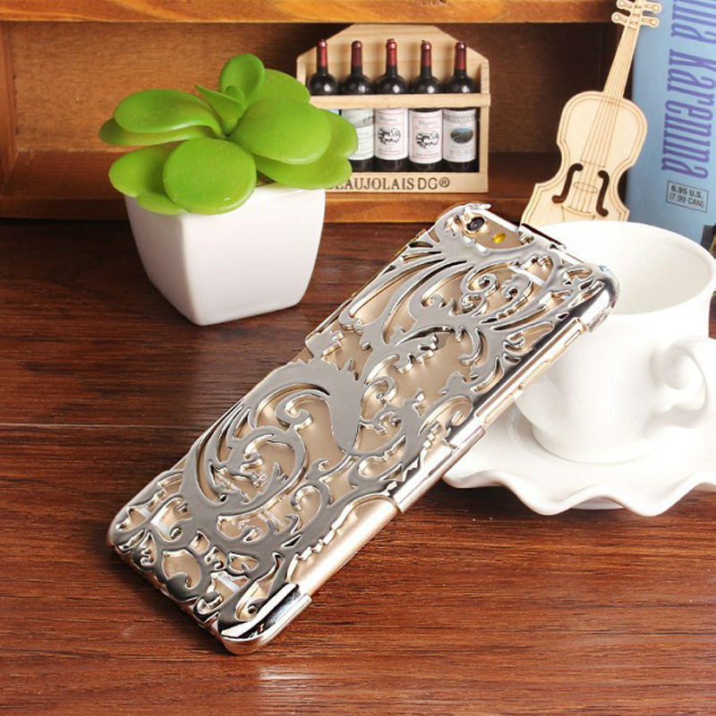 Чехол-накладка Radiating Hollow Plastic Fandas Silver Cover для iphone 6S plus плюс