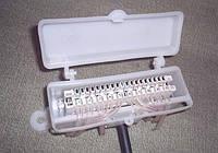 КРТЕ-10Н ― Коробка типа КРТ-10 распределительная телефонная с LSA-Plus-совместимым плинтом, пластиковая