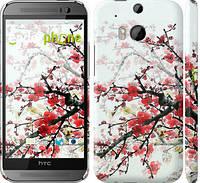 """Чехол на HTC One M8 Цветущий куст """"831c-30"""""""