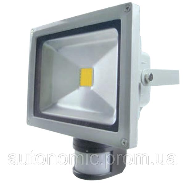 LED прожектор Ledex 30W 6500k с датчиком движения (PD738)