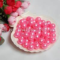 Бусины перламутровые под жемчуг розовые, 1 см (20 шт)