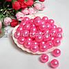 Бусины перламутровые под жемчуг розовые, 1,2 см (10 шт)