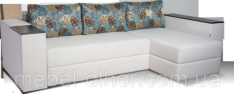 Угловой диван Лондон(пружинный блок)