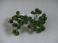 Искусственные засахаренные ягоды для декора зеленые d=1,2см (1 упаковка - 40 ягодок)