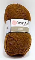 Пряжа elite - цвет коричневый