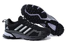 Кроссовки Adidas Marathon 10 черно-белые. женские кроссовки