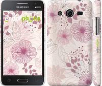 """Чехол на Samsung Galaxy Core 2 G355 цветочный узор м3 """"2259c-75"""""""