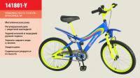 Велосипед 2-х колес 16  141606-B 1шт со звонком, зеркалом, с вставками в колесах