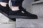 Мужские кроссовки Puma Suede Classic Black (Пума) в стиле черные, фото 3