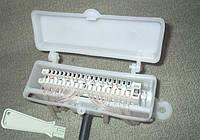 КРТЕ-10Н-1 ― Коробка типа КРТ-10 распределительная телефонная с LSA-Plus-совместимым плинтом и инструментом