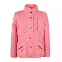 """Красивая модная  стильная стеганая куртка на девочку """"Жасмин"""" (Розовый)."""
