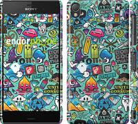 """Чехол на Sony Xperia Z3 D6603 Стикер бомбинг 1 """"693c-58"""""""