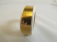 Скотч декоративний металік з малюнком, фото 1