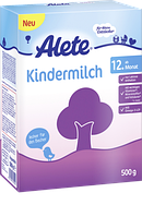 Alete Kindermilch ab 12. Monat, Folgemilch - Детское молоко с 12-го месяца, 0,5 кг Молочная смесь для малышей