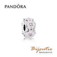 Pandora шарм-клипса РОЗОВЫЕ ПРИМУЛЫ №791823EN68 серебро 925 Пандора оригинал
