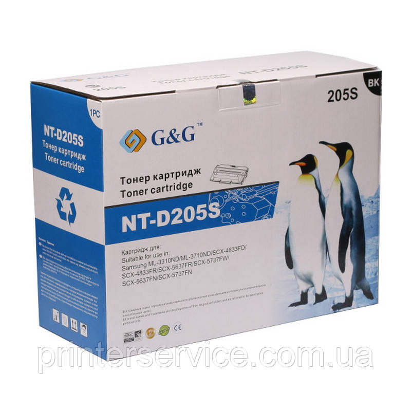 D205s картридж совместимый (аналог) для Samsung ML-3310/ 3710, SCX-4833/ 5637, G&G-D205S black