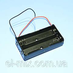 Відсік для батарей 18650*2шт, контакт-пружина, Китай