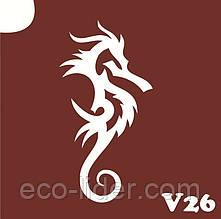 Трафарет для биотату V26, 6*6 см.
