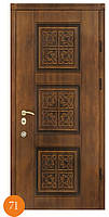 Входные стальные двери патина Термопласт™ Модель 71