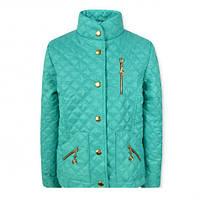 """Красивая модная  удобная стеганая куртка на девочку """"Жасмин"""" (Бирюза )."""
