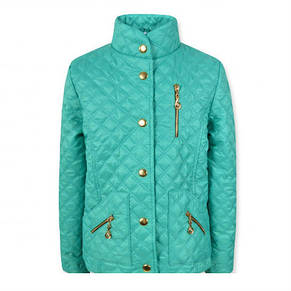 """Красивая модная  удобная стеганая куртка на девочку """"Жасмин"""" (Бирюза )., фото 2"""
