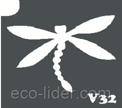 Трафарет для биотату V32, 6*6 см.