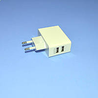 Зарядное устройство сетевое 2*USB-A (гнезда 1A+2.1A) Kruger&Matz  KM0017