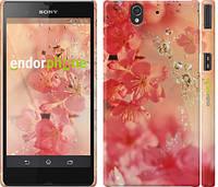"""Чехол на Sony Xperia Z C6602 Розовые цветы """"2461c-40"""""""