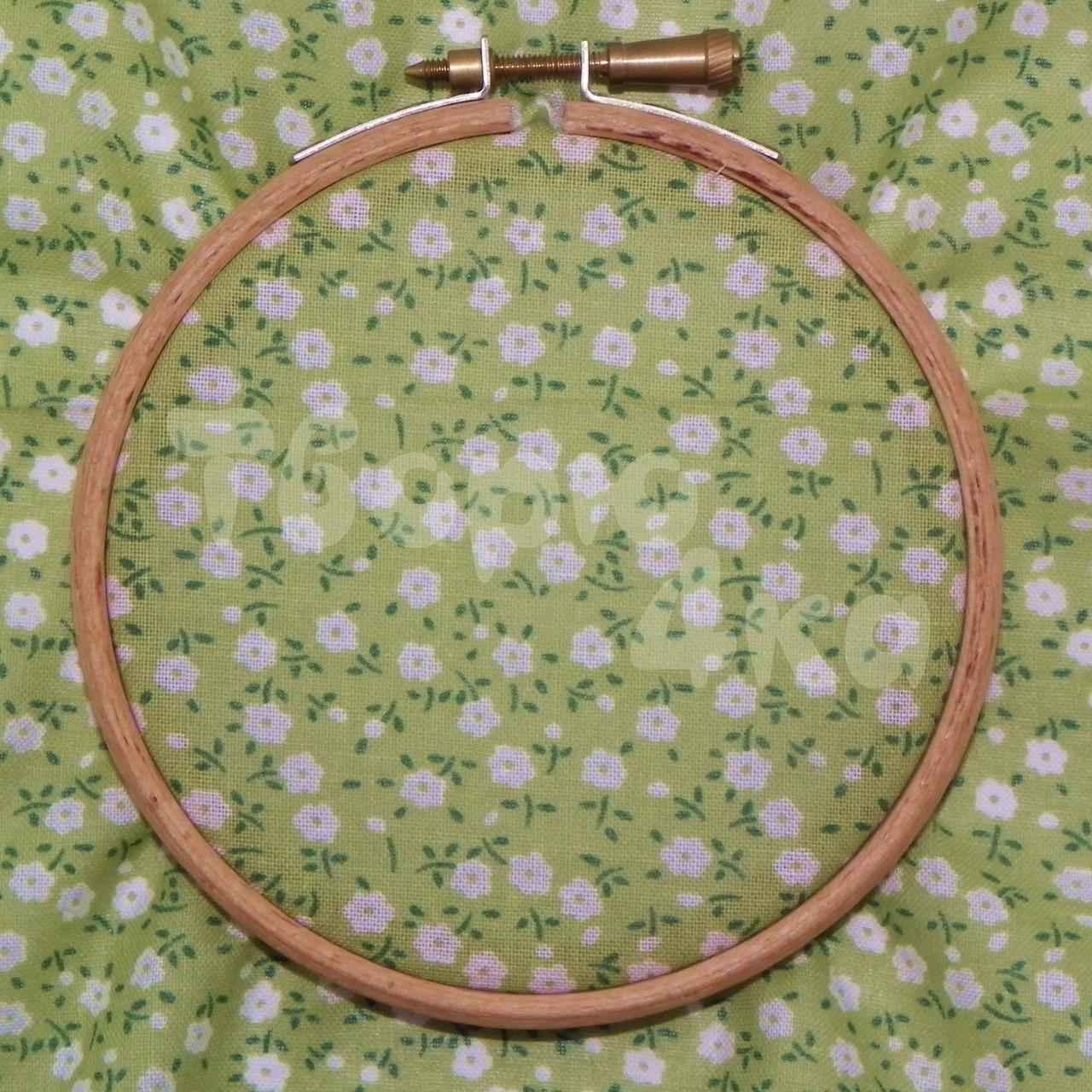 Ткань для пэчворка, кукл тильда зеленая в цветочек