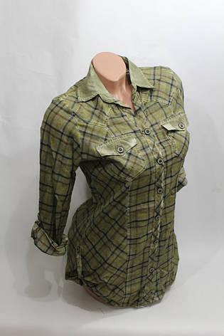 Женская молодежная рубашка в клетку оптом в Хмельницком , фото 2
