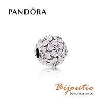 Pandora шарм-клипса ЦВЕТЕНИЕ САКУРЫ №791826EN40 серебро 925 Пандора оригинал