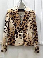 Пиджак Balizza женский кашемир леопардовый