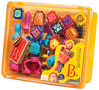 Игольчатый конструктор Спинаруз Веселые человечки в коробке (75 дет.), Spinaroos B Dot Battat 68653