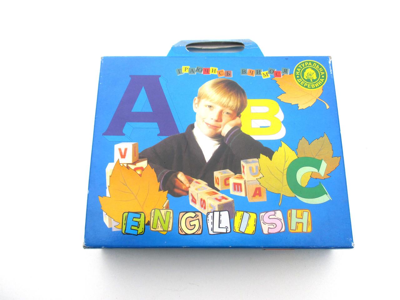 "Кубики ""English"" 20 кубиков"