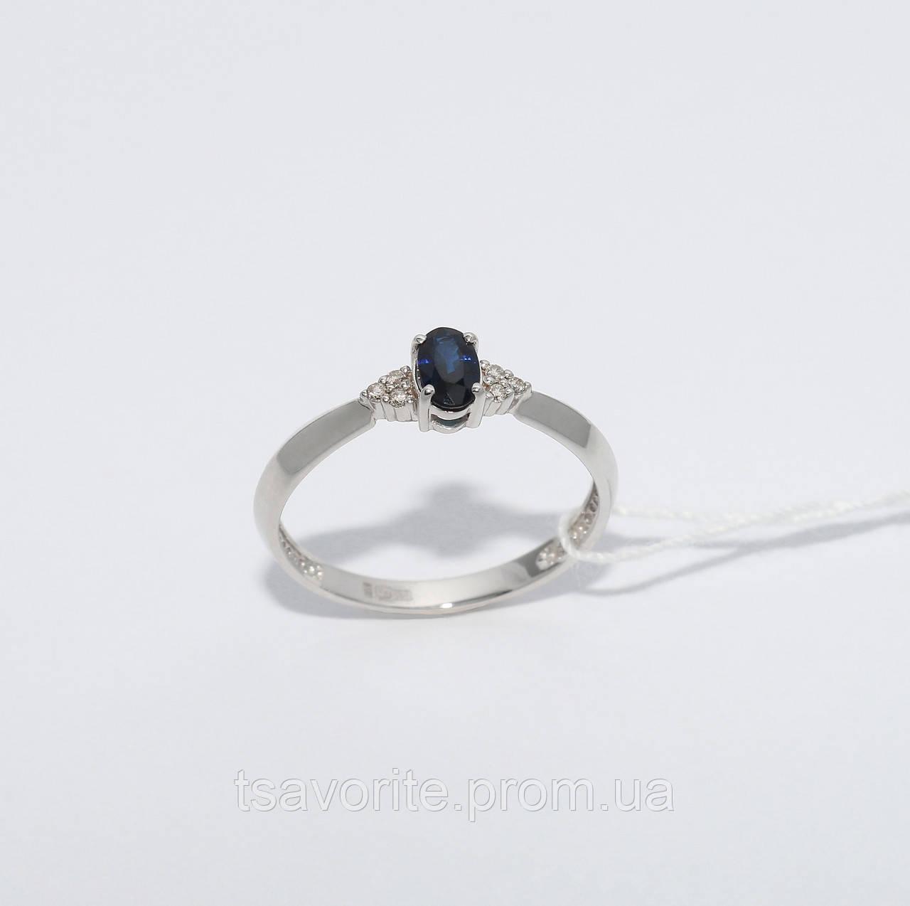 Золотое кольцо с сапфиром и бриллиантами НХК-13