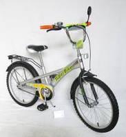 Велосипед 2-х колес 18  141806-B 1шт со звонком, зеркалом, с вставками в колесах