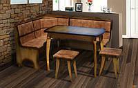 Кухонный комплект Микс Мебель Даллас (уголок + стол + 2 табурета)