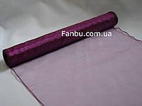 Органза флористическая на метраж,цвет вишнево-фиолетовый (ширина 38см)