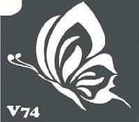 Трафарет для биотату V74, 6*6 см.