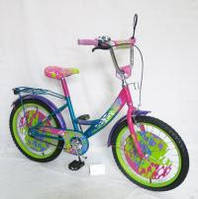 Велосипед 2-х колес 18  141806-P 1шт со звонком, зеркалом, с вставками в колесах
