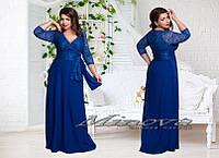 Вечернее платье Лорэн гипюр+масло (размеры 50-56)