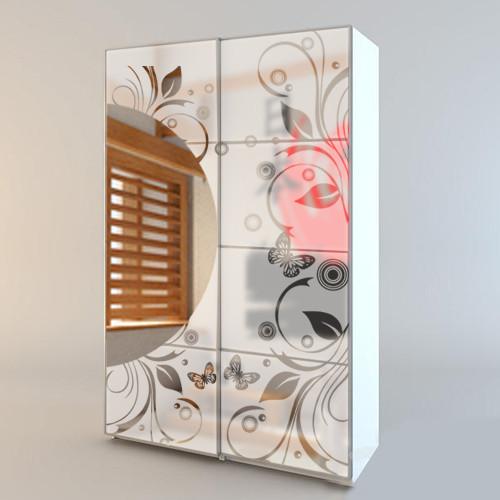 Пленка на зеркало самоклеющаяся рисунок Мотивы Японии матовая наклейка на шкаф виниловые наклейки на стекло матовая
