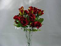Искусственный  букет розы спрей  (цвет красный)