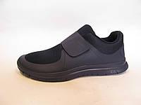 Кроссовки мужские  Nike Free Run 3.0 сетка, синие на липучке (найк фри ран)р.40