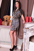 Шелковый халатик для женщин с красивым узором