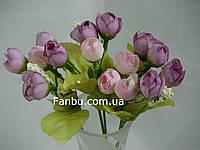 Искусственный  букет английской розы-нов (цвет сиреневый)