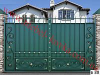 Ворота кованые 27